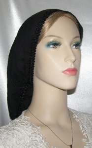 Black Gauze Cotton Snood - Band Ties Headcovering
