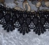 Black Gold Lace Bucharian Kippah