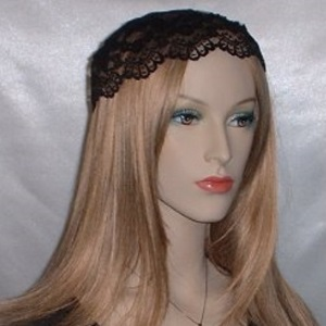 Black Lace Trim Buchari Kippah