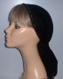 Black Velvet Snood Head Covering #3