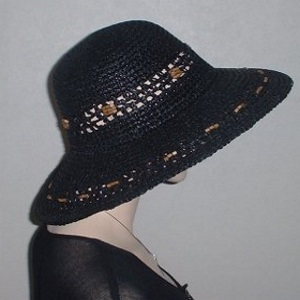 Black Weave Bolo Beaded Hat Kova Headcovering