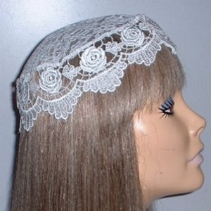 White Rose Venise Buchari Kippah