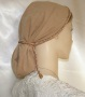 Camel Suede Snood Headcoverings