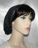 Channah Black Batiste Mimkhatah Kerchief Headcovering