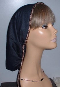 Blue Denim Snood Headcovering