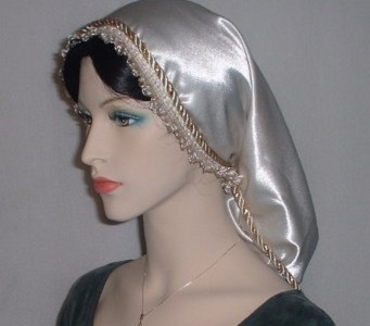 Crepe Back Satin Frontal Trimmed Snood Headcovering