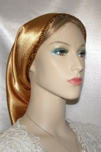 Ginger Satin Snood Headcovering