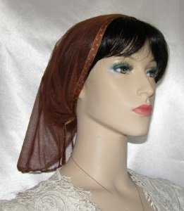 Miriam Brown Net Sheer Mimkhatah Head Covering