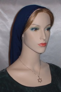 Headcovering - Navy Poly Snood Headcovering