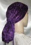 Purple Plush Velvet Snood Head Covering