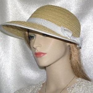 Tan Weave Bow Style Kova Hat Headcoverings