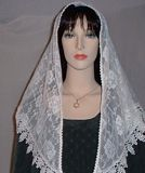 Tying Mantilla Veil Headcoverings Instruction