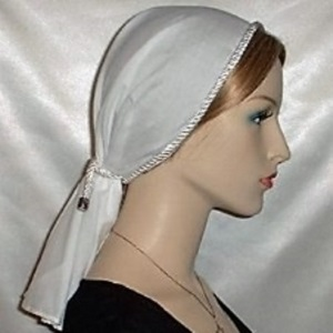White Batiste Tiechel Scarf Head coverings