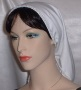 White Lined Batiste Snood Headcovering