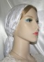 White Plush Velvet Snood Headcovering
