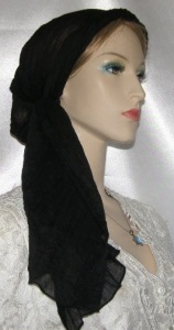 Black Batiste Mitpachat Headcovering