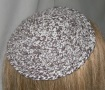 Brown & White Cotton Untrimmed Kippot