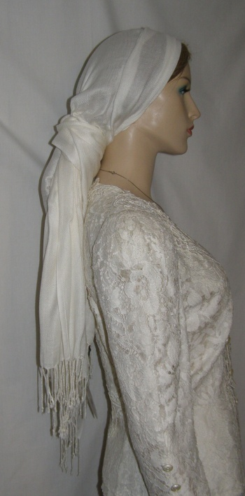 Ivory Viscose Shawl