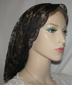 Black Lace Lace Ties Snood