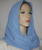 Periwinkle Blue Cowl Snood Head Covering