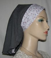 Gray White Mauve Blue Ties Sherntichel Head Covering