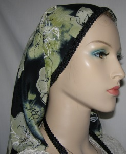 Black Sage Floral Scarf