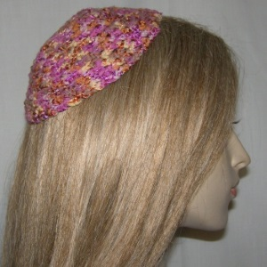 Orange Multi Color Untrimmed Kippah
