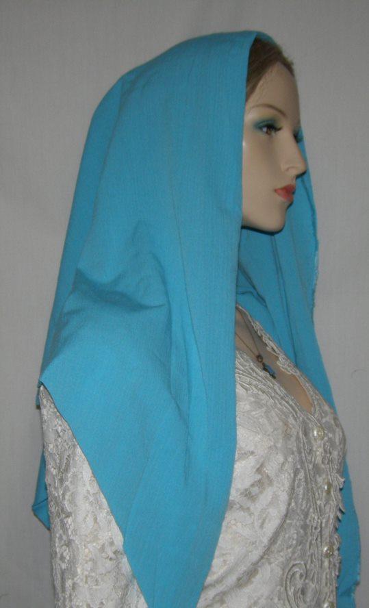 Turquoise Rayon Tichel