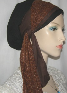 Black & Brown Snood Wrap