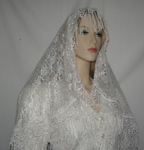 Mid Eastern Design Bridal Veil