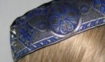 Blue & Gold Jacquard Band Buchari Kippah