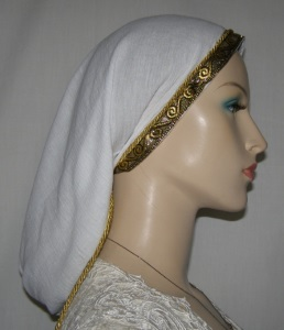 Gold on Gold Jacquard Band Snood
