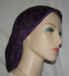Purple Design Suede Snood Headcovering