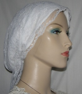 White Lace Snood Wrap