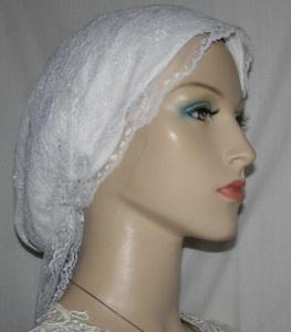 White Lace Snood Wrap
