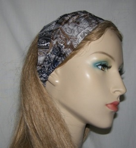 Navy Brown Gray White Headband