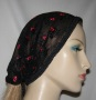 Black with Red Floral Design Kerchief