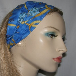 Blue Gold Chanukah Headband