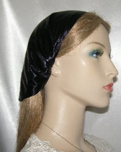 Black Lame Headband Headcovering
