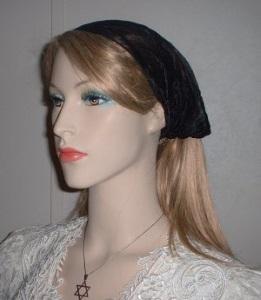 Black Poly Cotton Headband
