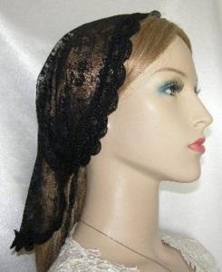 Ester Black Chantilly Lace Scallop Venise Trim Mimkhatah