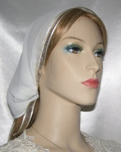 Sarah White Sheer Mimkhatah Headcovering