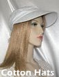 White Eyelet Cotton Hat
