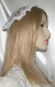 White Bridal Lace White Floral Venise Doily Kippah