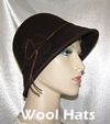 Dark Brown Felt Wool Hat Kova