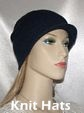 Knit Navy Brimmed Hat