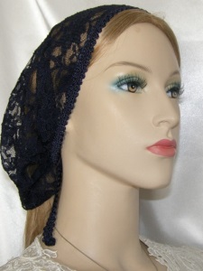 Yehudit Navy ReEmbroidery Lace Mimkhatah