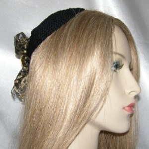 Black Gold Lace Milinary Style Kippah
