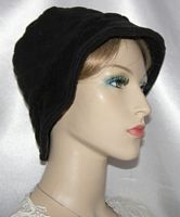 Black Poly Cotton Quilted Kova Hat