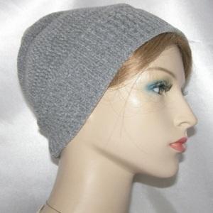 Gray Chenille Knit Frik Kippah